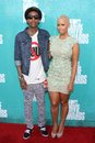 Wiz Khalifa and Amber Rose at the 2012 MTV Movie Awards Arrivals, Gibson Amphitheater, Universal City, CA 06-03-12 Stock Photo
