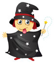 A wizard illustration of on white background Royalty Free Stock Image