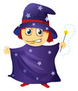 A wizard illustration of on white background Royalty Free Stock Photography