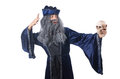 Wizard isolated on the wise background Royalty Free Stock Photo