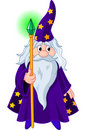 Wizard with staff Royalty Free Stock Photography