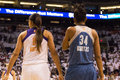 Wnba phoenix mercury win round one of finals the faced the minnesota lynx in professional basketball at the us airways center in Royalty Free Stock Photos