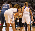 Wnba phoenix mercury win round one of finals the faced the minnesota lynx in professional basketball at the us airways center in Stock Image