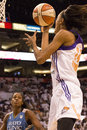 Wnba phoenix mercury win round one of finals the faced the minnesota lynx in professional basketball at the us airways center in Royalty Free Stock Images