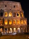 Włochy rzym nocy collosseo night miasta krajobraz Obraz Royalty Free