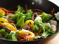 Wok stir fry close up Royalty Free Stock Images