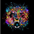 Wolf bright abstract background with Royalty Free Stock Photo