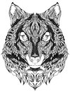 Wolf Head Tattoo. Vector Illus...
