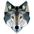 Wolf low poly design geometric, vector animal illustration face logo icon Royalty Free Stock Photo