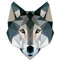 Wolf Low Poly Design Geometric...
