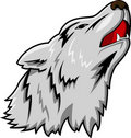 Wolf mascot Royalty Free Stock Photo