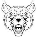 Wolf mascot head Royalty Free Stock Photo