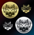 Wolf medallions vector illustration of Stock Photography