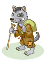 Wolf a is a monk vector image Stock Photos