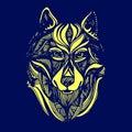 Wolf portrait. Vector abstract polygonal geometric illustration. Royalty Free Stock Photo