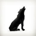 Wolf silhouette Stock Photography