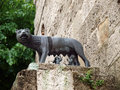 A she wolf suckling the infants romulus and remus chiusi tuscany Stock Image