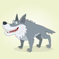Wolf vector illustration of cartoon Stock Photo