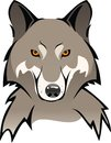 Wolf vector illustration of a s head on a white background Royalty Free Stock Photography