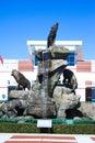 Wolfpack Statue at Carter-Finley Stadium, Cary, North Carolina.