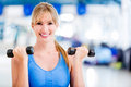 Woman ¬at the gym Stock Photography