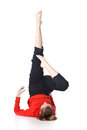 Woman is an acrobat Stock Images