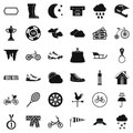 Woman activity icons set, simple style