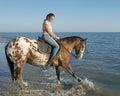 Woman And Appaloosa Horse