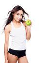 Woman with apple Stock Photography