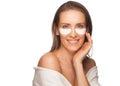 Woman Applying Gel Eye Mask