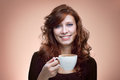Woman with an aromatic coffee Royalty Free Stock Photo