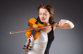 Woman artist with violin in music concept Royalty Free Stock Photos