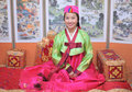 Woman asian girl hanbok dress Royalty Free Stock Images