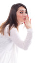 Woman with an astonish and admired expression Royalty Free Stock Photo