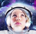 Woman astronaut Royalty Free Stock Photo