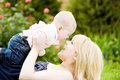 Woman and baby Royalty Free Stock Photo