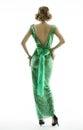 Woman back in retro fashion sequin dress, elegant vintage style Royalty Free Stock Photo