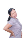 Woman with backpain Royalty Free Stock Photo