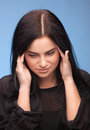 Woman with bad headache Stock Image