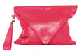 Woman bag isolated on white background crimson color Royalty Free Stock Photo