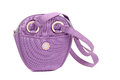 Woman bag light violet closeup Royalty Free Stock Photos