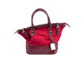 Woman bag of red color Royalty Free Stock Image