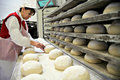Woman baking bread Stock Photography