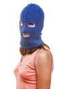 Woman in balaclava Stock Photography
