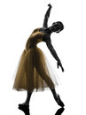 Woman  ballerina ballet dancer dancing silhouette Royalty Free Stock Images