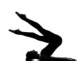 Woman ballet dancer Stand yoga pose Stock Photography
