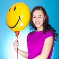 Woman with balloon Royalty Free Stock Photography