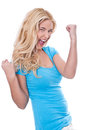 Woman beaming with happiness Royalty Free Stock Photo