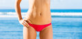 Woman with a beautiful bikini body Royalty Free Stock Photo