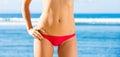 Woman with a beautiful bikini body Royalty Free Stock Photo